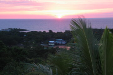 Sunset at Ridge House in West end, Roatan